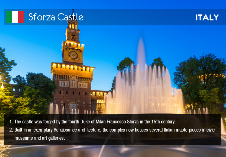 Infographic depicts Sforza Castle
