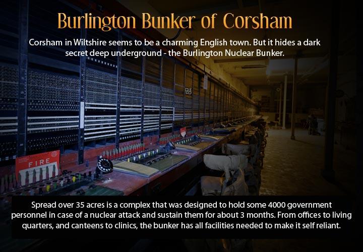 Infographic describing the underground city of Corsham