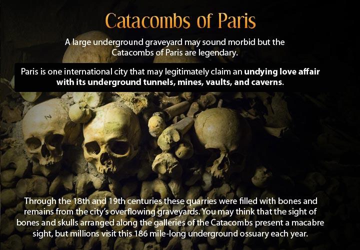 Infographic describing the underground city of Paris