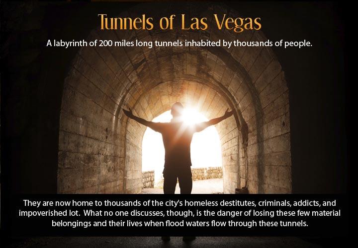Infographic describing the underground city of Las Vegas