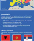 Infographic Giving Details on the Countries Joining the European Union Soon