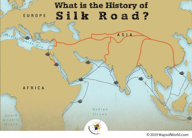 The Routes of Silk Road consisted of Thoroughfares, Markets, and Trading Posts.