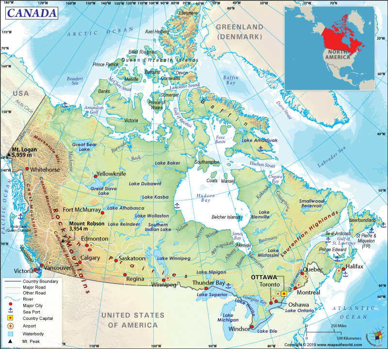 Map Key Of Canada What are the Key Facts of Canada?   Answers