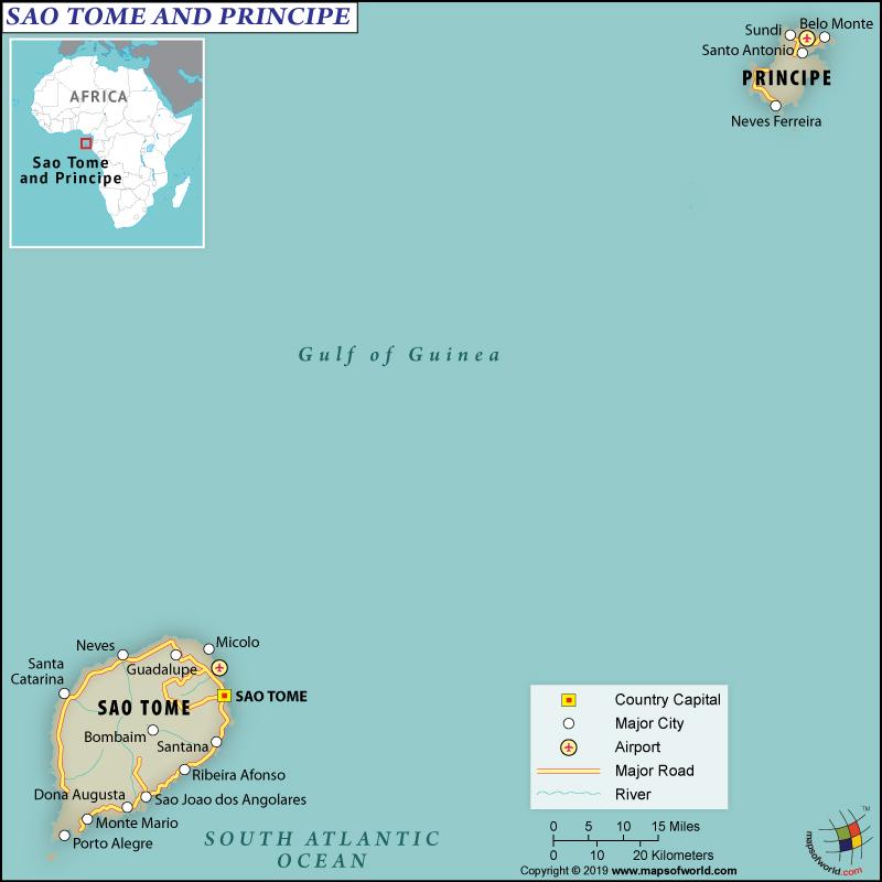 São Tomé and Príncip Mape