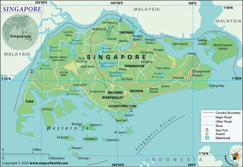 Republic of Singapore Map