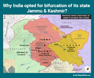 Why India Opted for Bifurcation of its State Jammu and Kashmir?