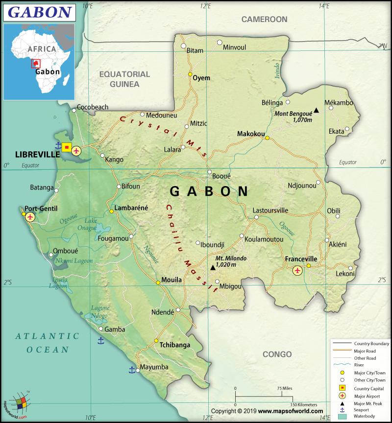 Map of Gabonese Republic