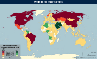 World Oil Poduction as per 2018