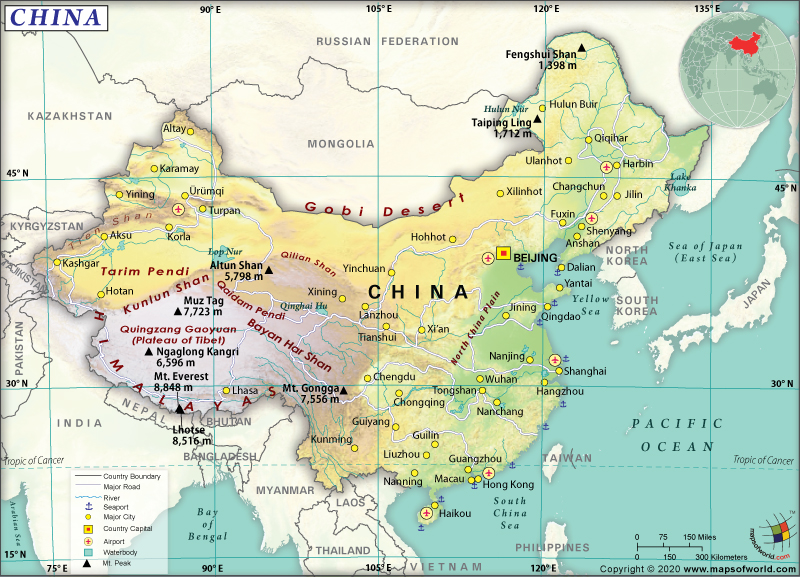 Map of People's Republic of China