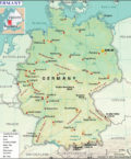 Map of Federal Republic of Germany
