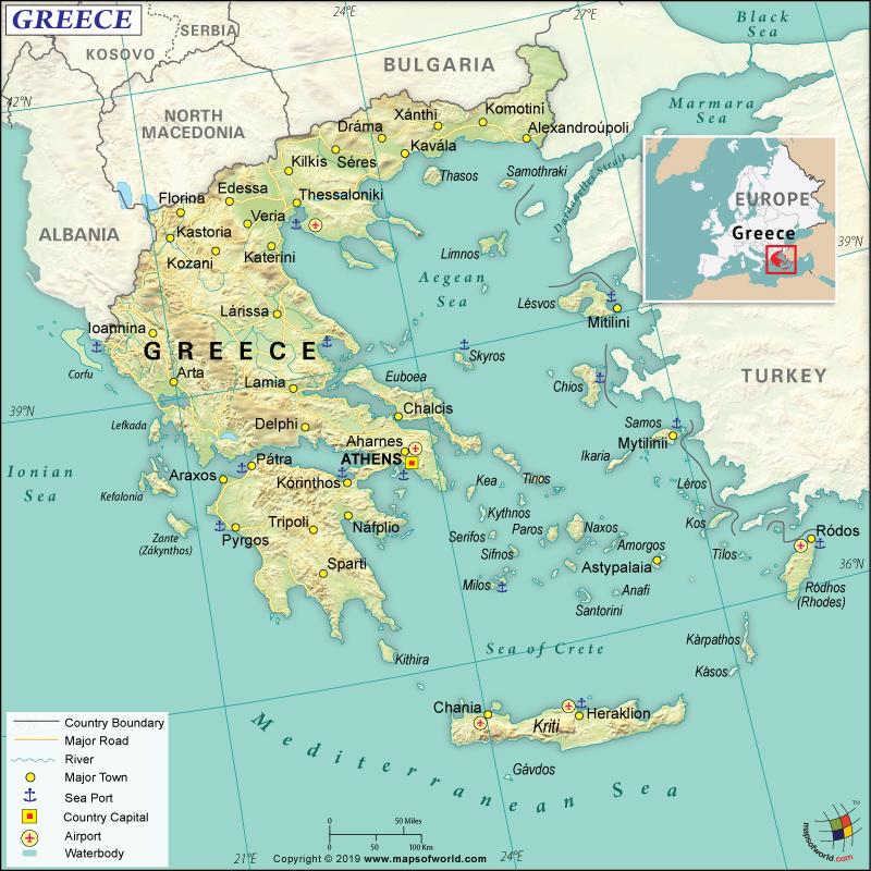 Map of Hellenic Republic