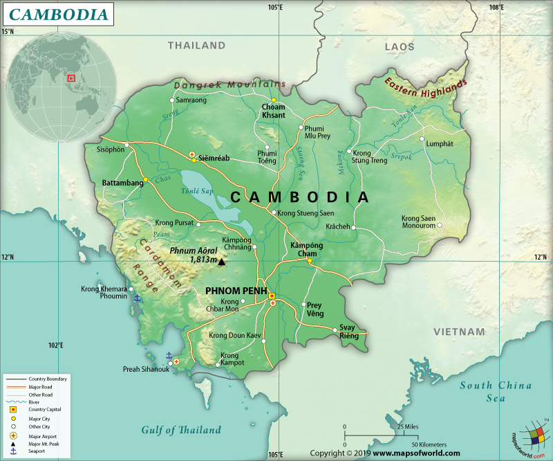 Map of Kingdom of Cambodia
