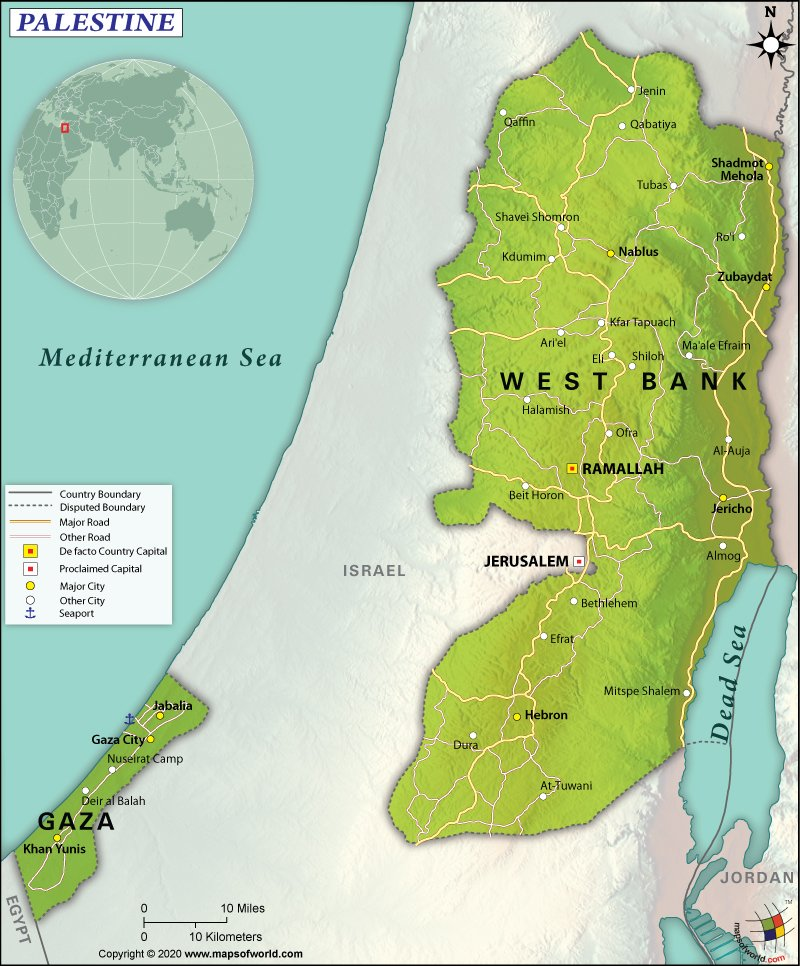 Map of The State of Palestine