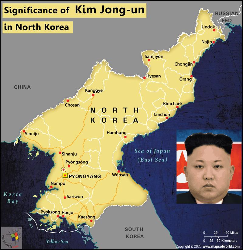 Map of North Korea