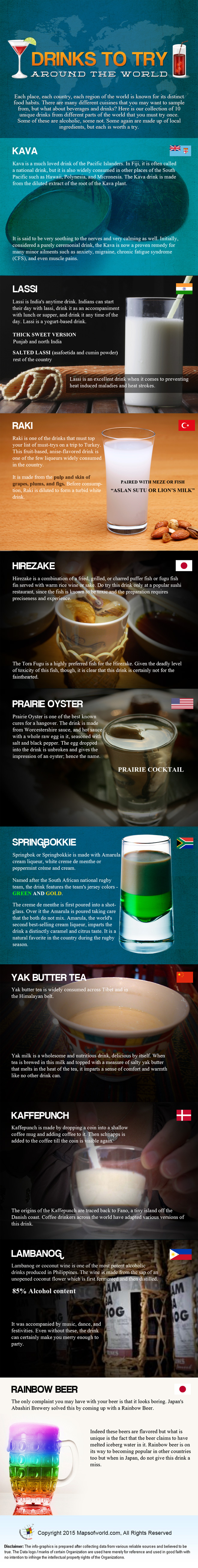 Drinks To Try Around The World Infographic