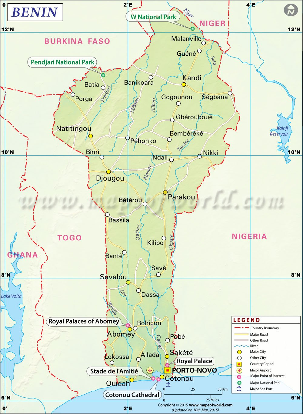 africa map benin