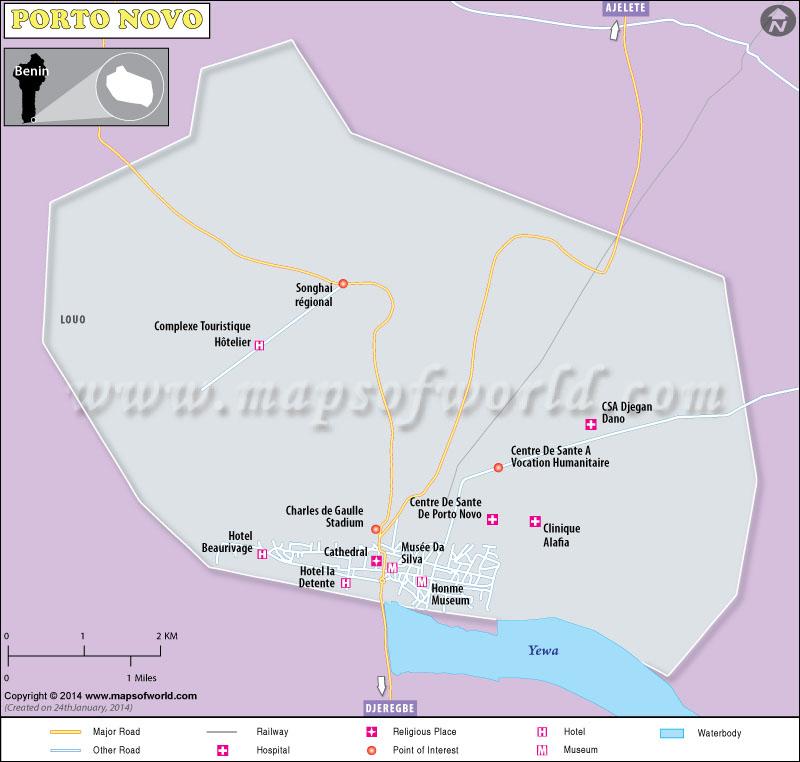 Porto-Novo Map