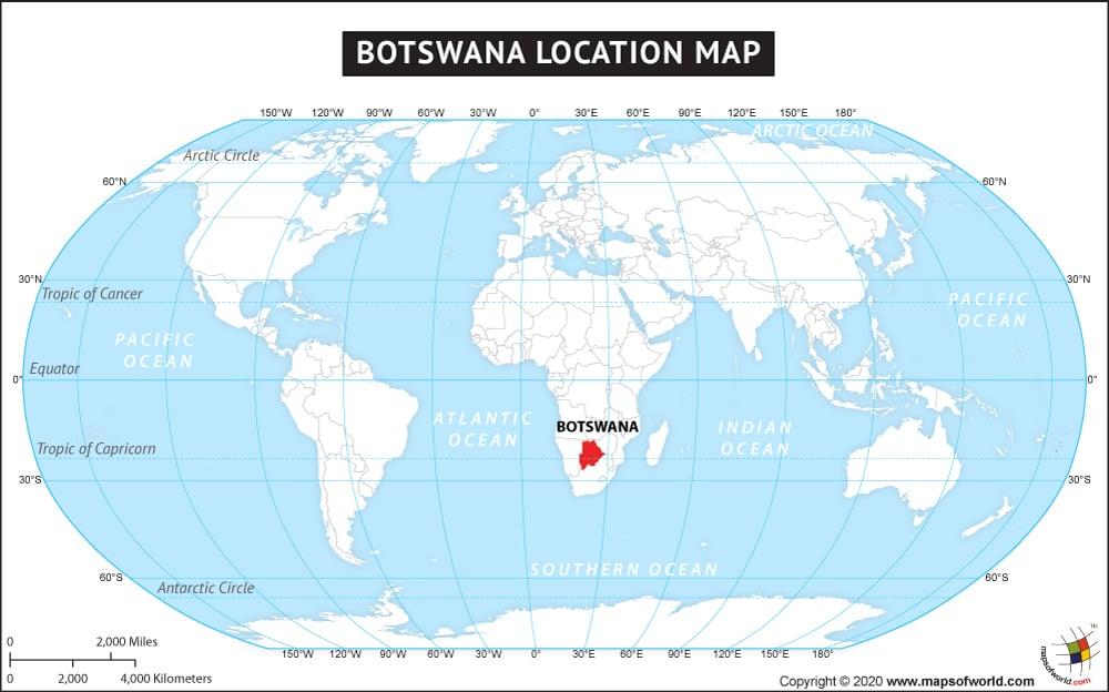 На карте мира положение страны
