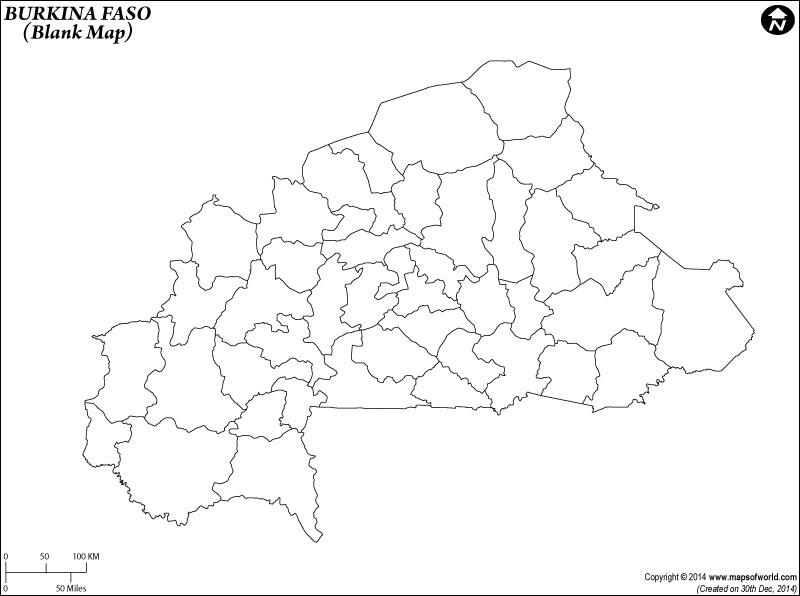 Burkina Blank Map