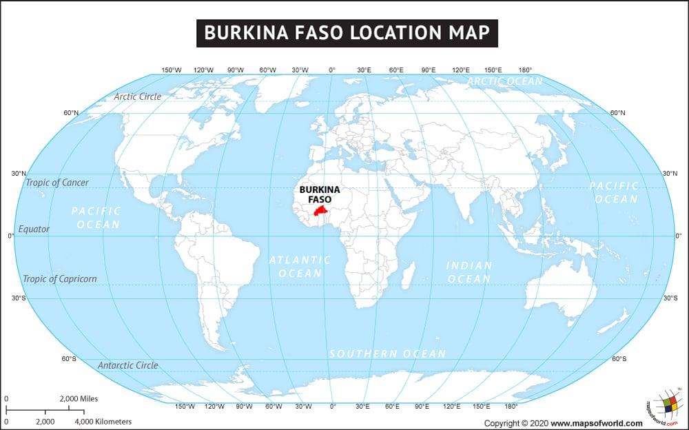 Фасо на карте мира положение страны
