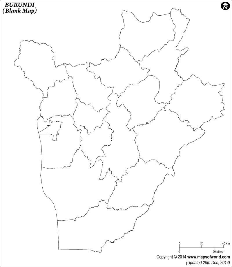 Burundi Blank Map