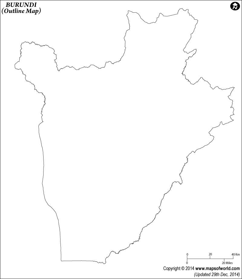 Burundi Time Zone Map