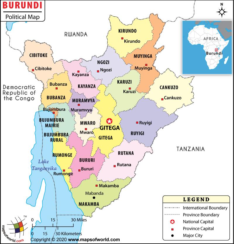Political Map of Burundi
