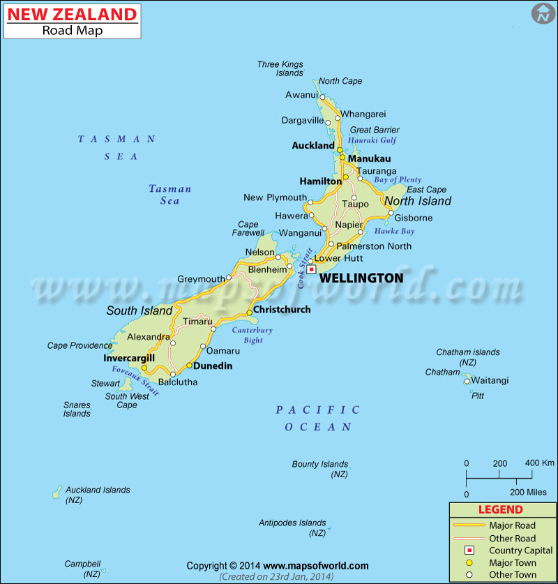 New Zealand Road Map