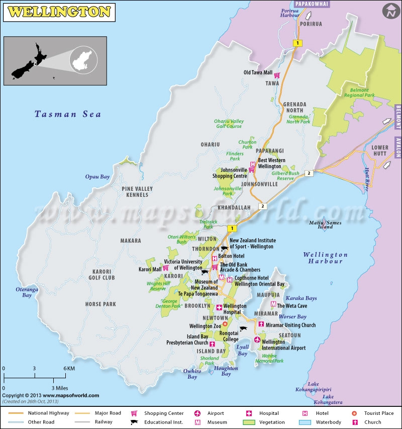 Wellington Map