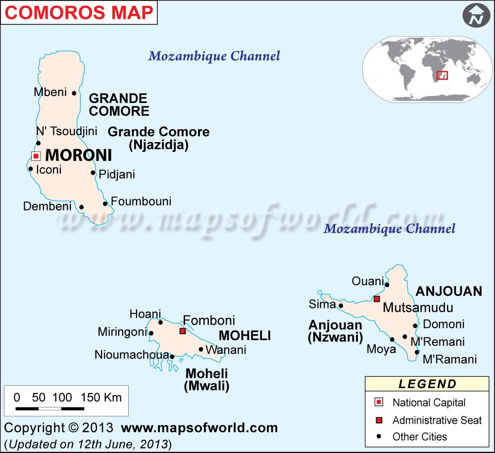 Comoros Map