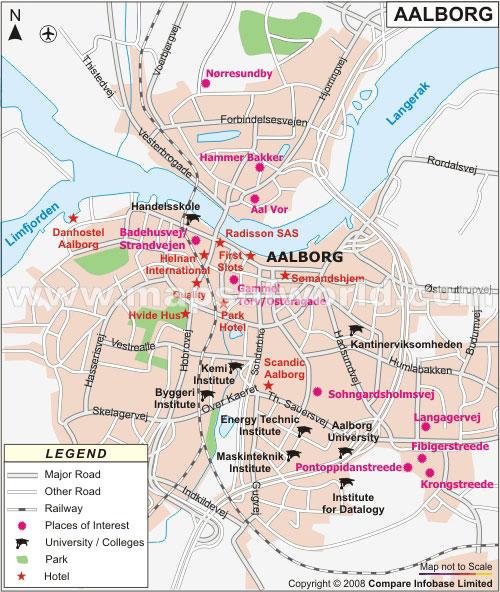 Map of Aalborg, Denmark Aalborg Map