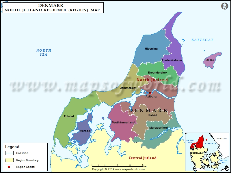 North Jutland Region Map