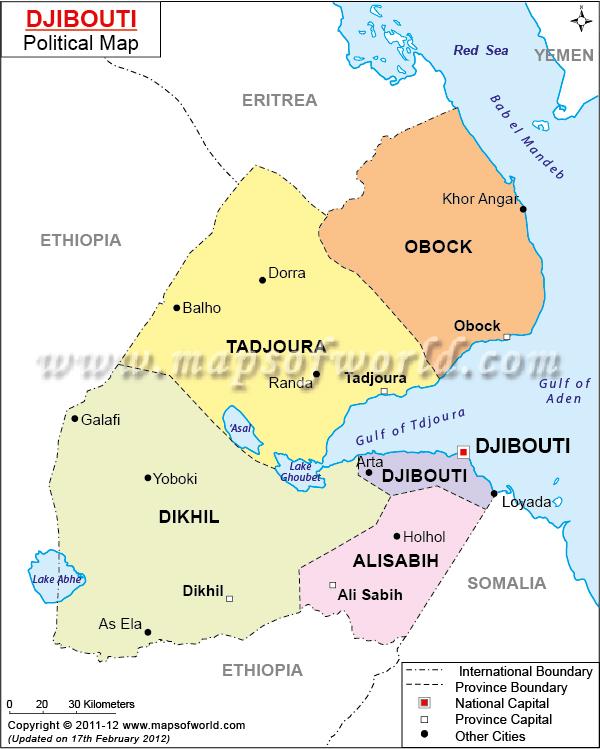 Mapa de Djibouti