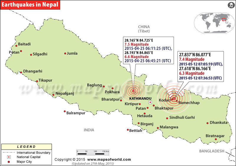 Areas affected by earthquake in nepal earthquakes in nepal major earthquakes in nepal gumiabroncs Choice Image