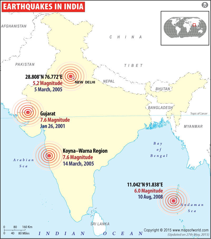 Historic Earthquakes in India
