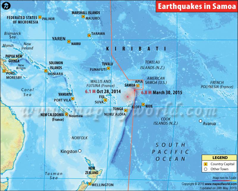 Earthquake in Samoa