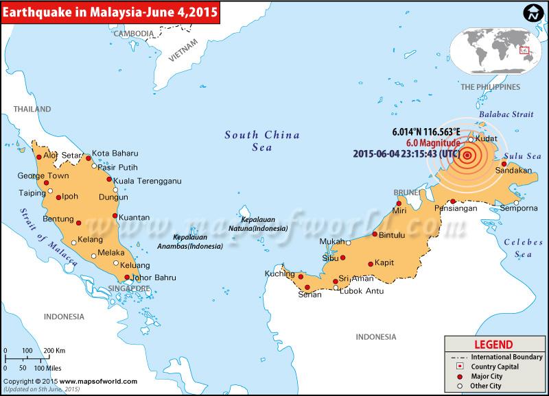 M6.0 Earthquake in Malaysia
