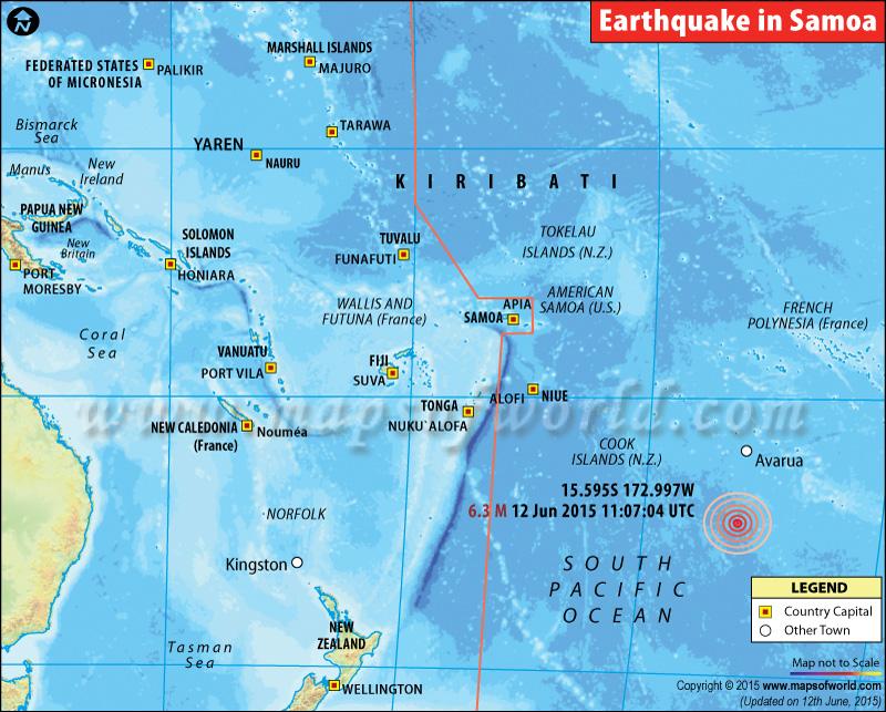 M6.3 Earthquake in Samoa Islands