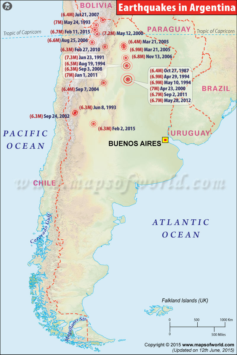 Argentina Earthquake Map Areas Affected By Earthquakes In Argentina - Argentine railway map
