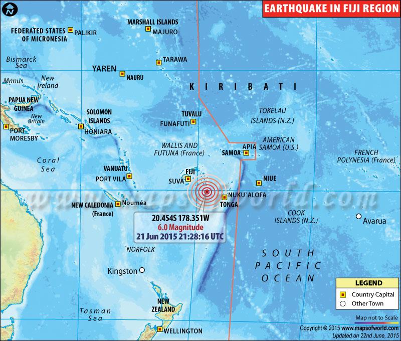 Earthquakes in Fiji
