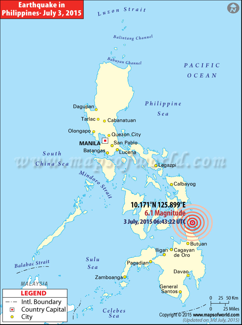 Philippines Earthquake Map Places Affected by Earthquake in