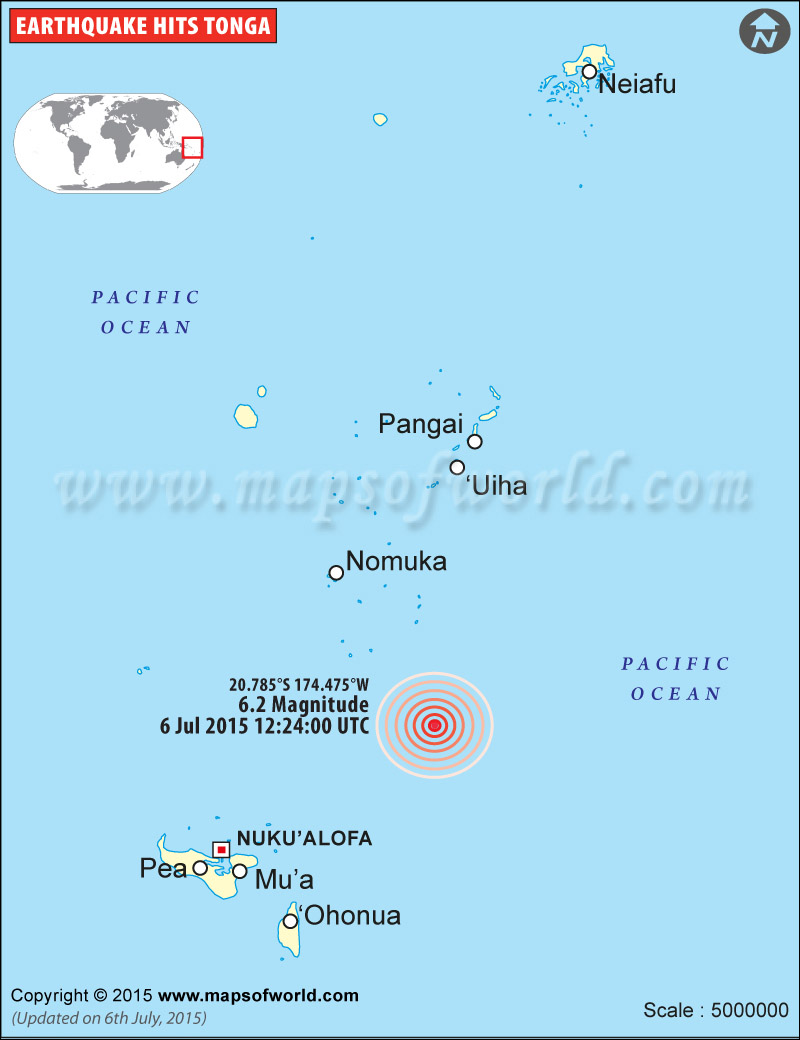 M6.2 Earthquake in Tonga