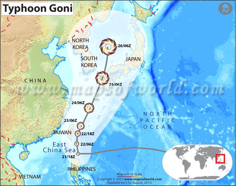 Path map of Typhoon Goni