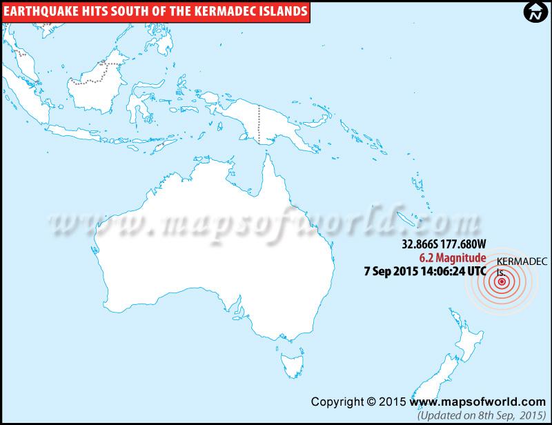 Strong Earthquake hits kermadec islands