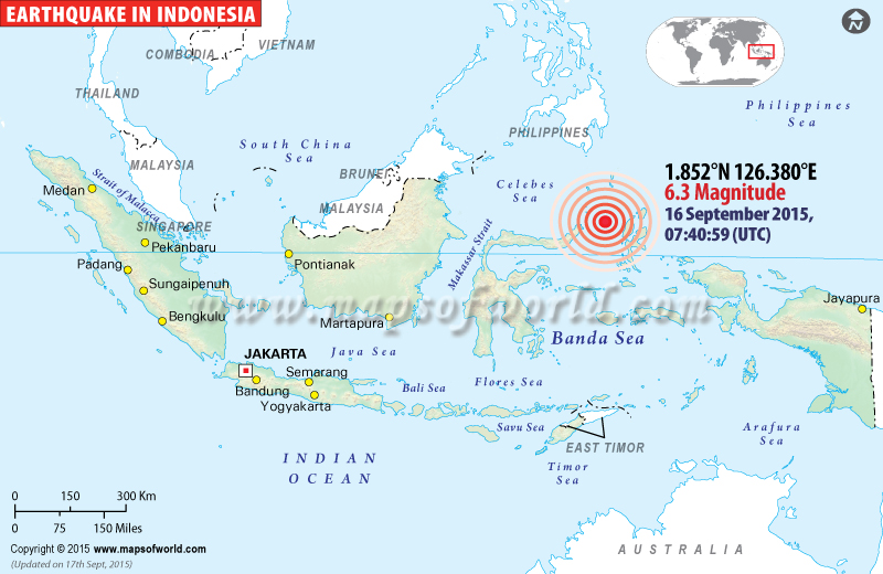 M6.3 Earthquake Hits Indonesia