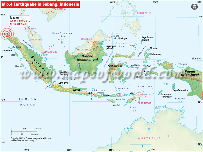 M6.4 Earthquake Hits Indonesia - Nov 08, 2015