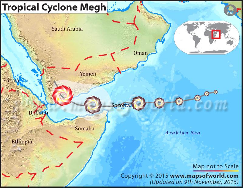 Path Map of Tropical Cyclone Megh