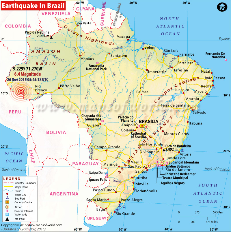 M6.4 Earthquake in Brazil