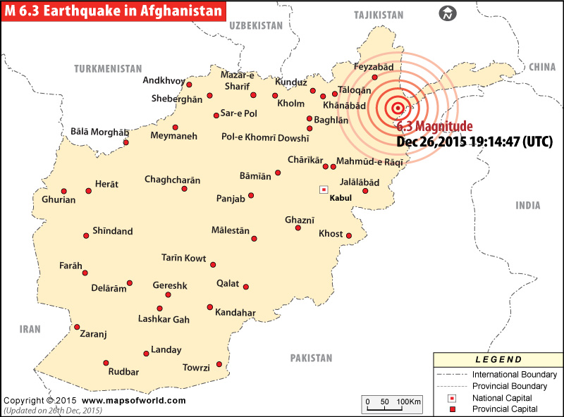 6.3 magnitude Earthquake hits Afghanistan