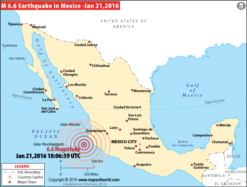 M6.6 earthquake in Mexico